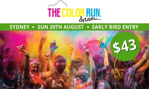 THE COLOR RUN: The Color Run™ Dream Tour - Early Bird Entry for $43 (Plus Booking Fee), 20 August, Centennial Park (Up to $58 Value)
