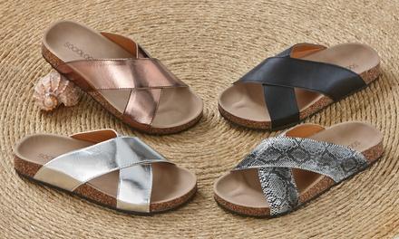 Sociology Women's Crisscross Footbed Sandals