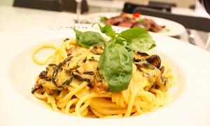L'ITALIA BUONA: Menu italiano o al tartufo con calice o bottiglia di vino da L'Italia Buona (sconto fino a 73%)