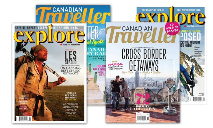 "Canadian Traveller Magazine - St Catharines-Niagara: One-Year Subscription to ""Canadian Traveller"" Magazine, ""Explore"" Magazine, or Both (Up to 50% Off)"