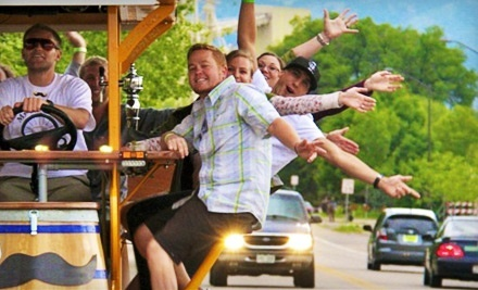 Two-Hour Bar-Bike Tour and Pub Crawl for Up to 16 from MyHandleBar (Half Off)