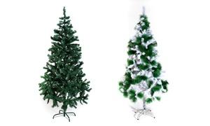 Alberi di Natale bianchi verde e collina