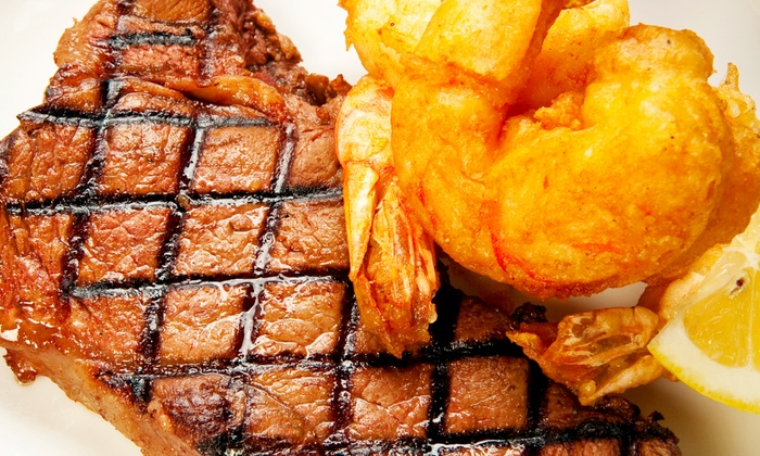 The Silver Flame - Tulsa: Steak and Shrimp Dinner for Two, Four, or Six at The Silver Flame (Up to 51% Off)