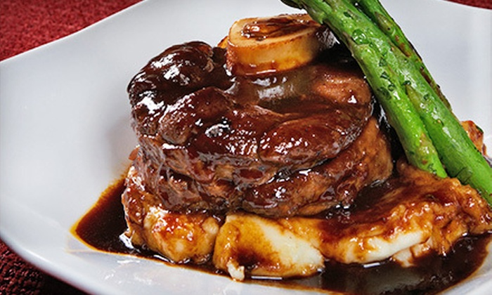 Manhattan Steak & Seafood - Orange: Steak-House Dinner, Brunch, or Lunch and Drinks at Manhattan Steak & Seafood (Half Off)