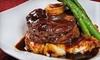 Manhattan Steak and Seafood - Orange: Steak-House Dinner, Brunch, or Lunch and Drinks at Manhattan Steak & Seafood (Half Off)