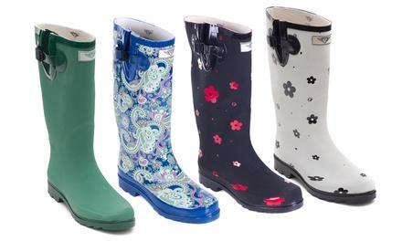 Women's Matte 3D Rain Boots