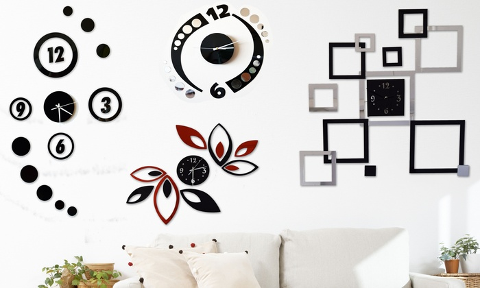 Modern clock wall art
