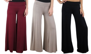 Free To Live Palazzo Pants. Multiple Colors Available. Free Returns.