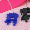 Acrylic You & Me Initial Necklace