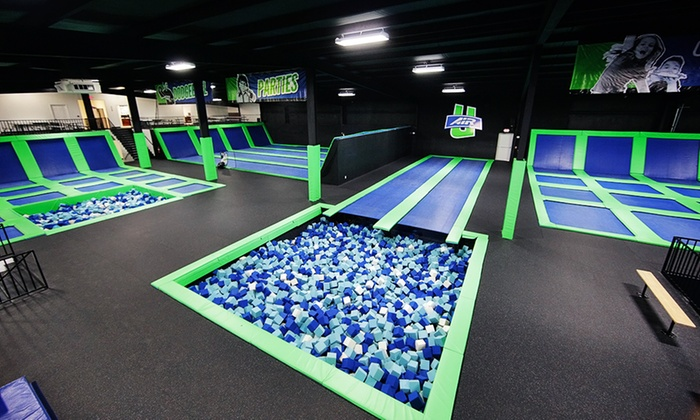Air U Trampoline Park - Guelph: Two or Four 60-Minute Jump Passes or a Super Party Package for Up to 12 Kids at Air U (Up to 48% Off)