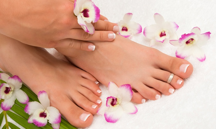 Nails 4 You - Belton: One or Two Mani-Pedis, or One Super Deluxe Pedicure with Hot Stone Therapy Massage at Nails 4 You (Up to 52% Off)