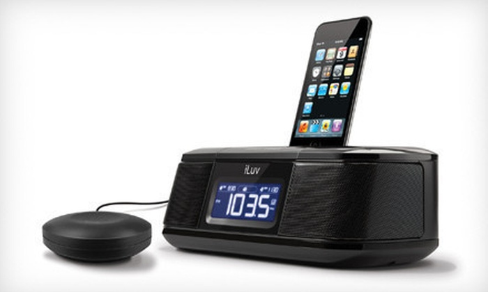 iLuv Dual Alarm Clock with Bed Shaker: $25 for an iLuv Dual-Alarm Clock with iPod Dock and Bed Shaker ($59.99 List Price)