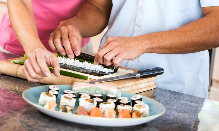 "Ohba Sushi of Houston - Multiple Locations: ""Roll with Beginners"" Sushi-Making Class for One or Two at Ohba Sushi of Houston (Up to 64% Off)"