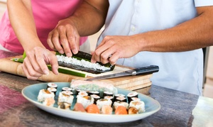 Tensuke Market: Sushi-Making Class for Two or Four with Dinner and Sake, or Japanese Food at Tensuke Market (Up to 52% Off)