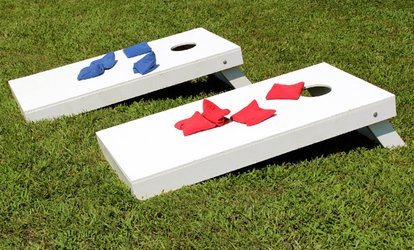 image for Cornhole Board and Bags Rental from BoardSpaces Custom Cornhole (Up to 57% Off). Three Options Available.