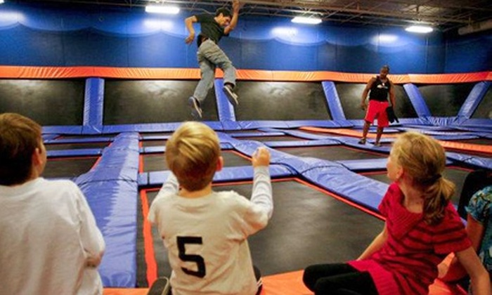 Sky Zone - Multiple Locations: One-Hour Indoor Trampoline Session for Two with Fountain Drinks at Sky Zone (Up to 49% Off)