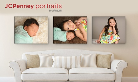 groupon.com - Professional In-Studio Photo Shoot and Canvas Print at JCPenney Portraits (Up to 85% Off)