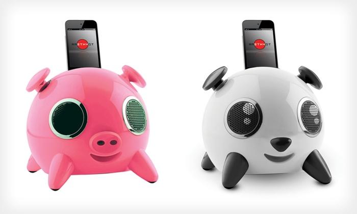 iPig, iPup, or Ninja Apple Speaker Dock: $39 for iPig, iPup, or Ninja Apple Speaker Dock ($99.99 List Price). Six Options Available. Free Shipping and Returns.
