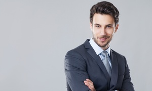18|8 Fine Men's Salons: Men's Haircut Packages at 18|8 Fine Men's Salons (Up to 47%Off). Three Options Available.