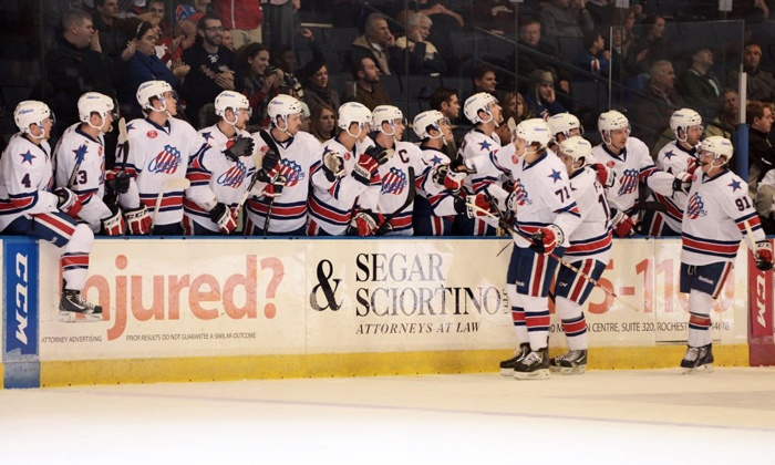 Rochester Americans - Blue Cross Arena: $14 to See a Rochester Americans Hockey Game at Blue Cross Arena on Friday, November 22, at 7:05 p.m. ($32.90 Value)