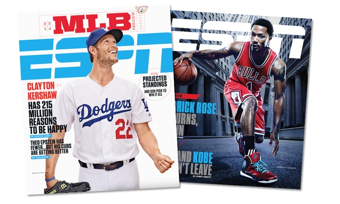 Blue Dolphin Magazines: 1-Year, 26-Issue Subscription to ESPN The Magazine