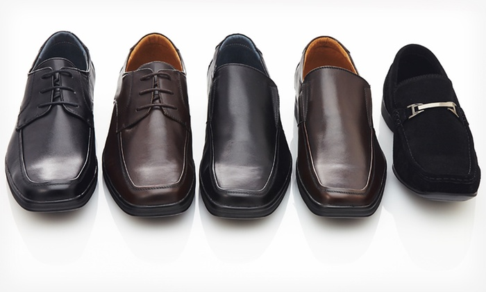 Adolfo Men's Leather or Suede Dress Shoe: $59.99 for Adolfo Men's Leather Dress Shoes ($199 List Price). Multiple Styles and Sizes. Free Shipping and Returns.
