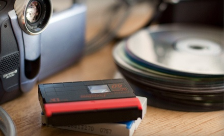 Two, Four, Six, or 12 Hours of Videotape-to-DVD Transfers at Natron Studios, Inc. (Up to 58% Off)