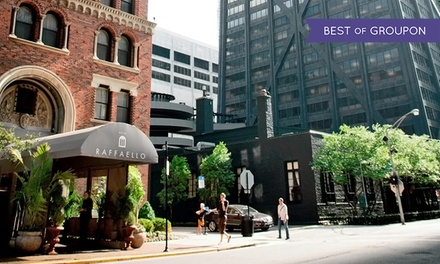 groupon daily deal - Stay with Two Drinks at Raffaello Hotel in Downtown Chicago; Dates into April