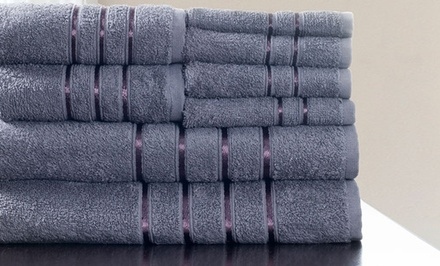Eight-Piece 650GSM 100% Egyptian Cotton Bath Towel Set