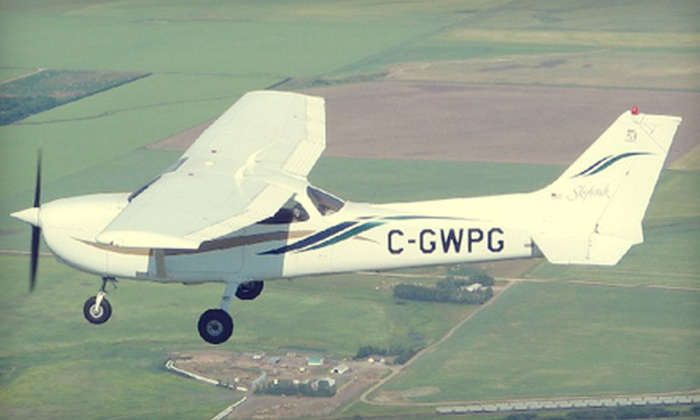 Regina Flying Club - Regina: 60-Minute Discovery Flight Lesson with Option for Extra Passenger from Regina Flying Club (Up to 52% Off)