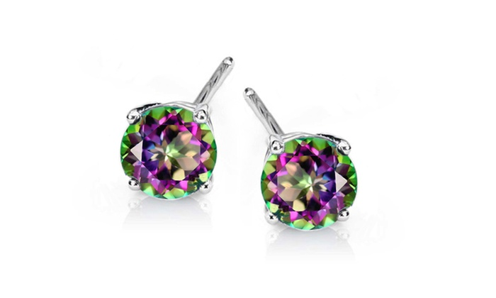 topaz oval earrings green ct amazon dp sterling silver mystic leverback com
