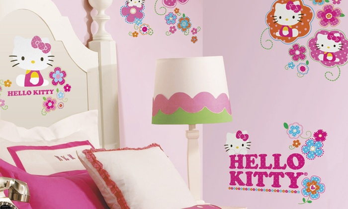 Hello Kitty Floral Boutique Wall Decals: Hello Kitty Floral Boutique Wall Decals