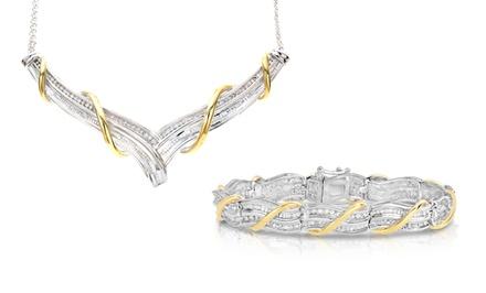 1/2 CTTW Diamond Necklace or Matching Bracelet