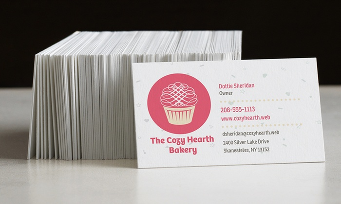 Business cards from vistaprint groupon goods product details reheart Images