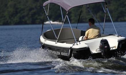 15 PS Motorboot zur Miete, führerscheinfrei für bis zu 6 Personen bei Bootsverleih Boat4All (bis zu 54% sparen*)