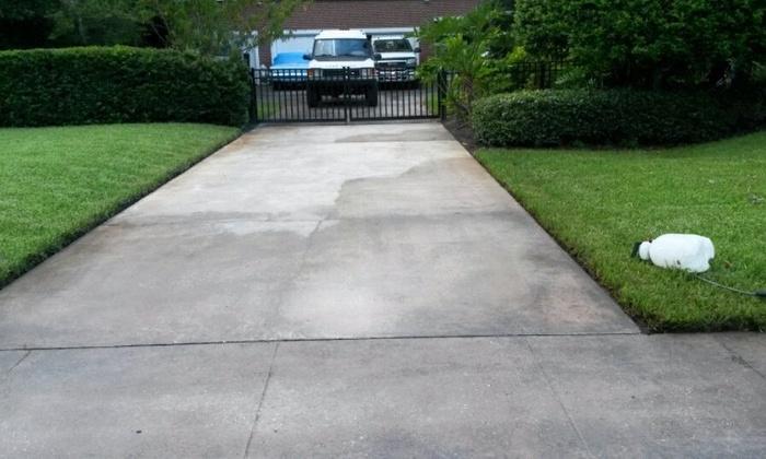 Make It Rain Power Washing - Tampa Bay Area: Sidewalk or Concrete Pressure Washing from MAKE IT RAIN POWER WASHING (56% Off)