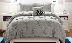 London And Santiago Pintucked Comforter Set (4-piece)