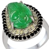7.05 CTTW Genuine Emerald, Diamond and Sapphire Ring; Size 7