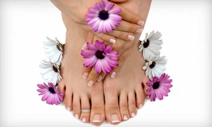 All For You Salon & Spa - Winchester: Spa Pedicure Package with Regular or Gel Manicure at All For You Salon & Spa  (Up to 56% Off)