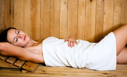 One, Three, or Six 30-Minute Infrared-Sauna Sessions with 30-Minute Aqua Massages at Esthetique (Up to 82% Off)