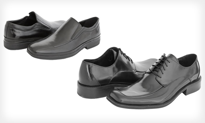 Kenneth Cole Men's Leather Dress Shoes: Kenneth Cole Men's Town Hall or Walk Across Dress Shoes (Up to 53% Off). Multiple Sizes Available.