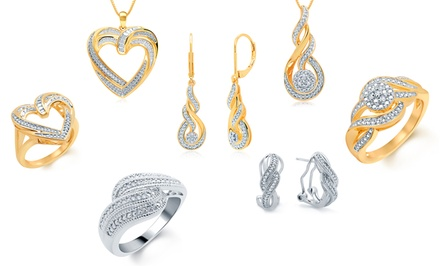 1/10 CTTW Round Diamond Jewelry 2- or 3-PC Set from $24.99–$34.99
