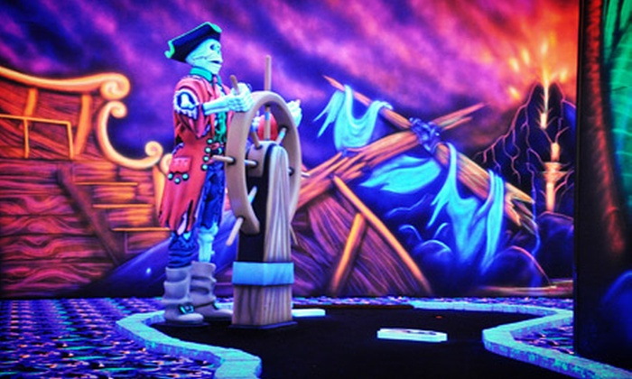 Canton Indoor Golf Center - Canton: Black-Light Mini Golf with Ice Cream for Two or Four at Canton Indoor Golf Center (Up to 55% Off)