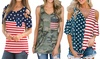 Haute Edition Women's 4th of July American Flag Tops
