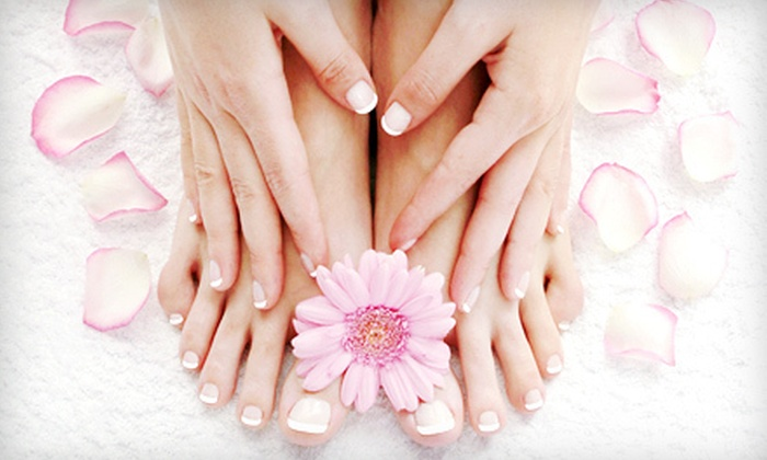 Mani-Kir Royale - Valley Village: Citrus Pedicure with Regular or Gel Manicure at Mani-Kir Royale in North Hollywood (Up to 60% Off)