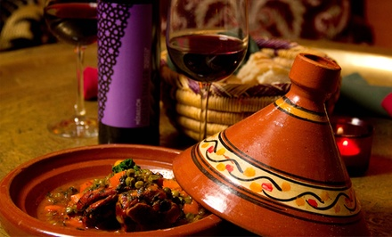 Three-Course Prix Fixe Moroccan Dinner for Two at Kasbah Moroccan Restaurant and Hookah Lounge (37% Off).