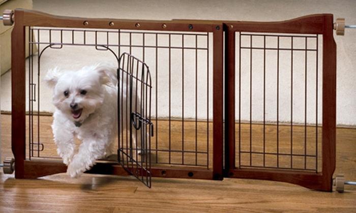 Up To 81 Off Adjustable Pet Gates Groupon