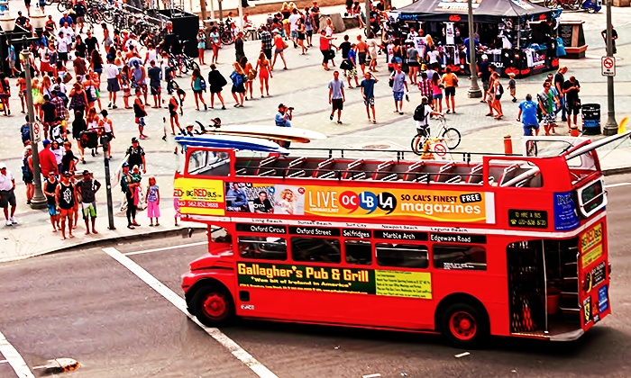 Big Red Bus - Tilted Kilt Long Beach: Sunday Funday Four-Hour Double Decker Bus Pub Crawl for One or Two from Big Red Bus (Up to 63% Off)
