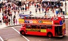 Big Red Bus - Market Place: Sunday Funday Four-Hour Double Decker Bus Pub Crawl for One or Two from Big Red Bus (Up to 63% Off)