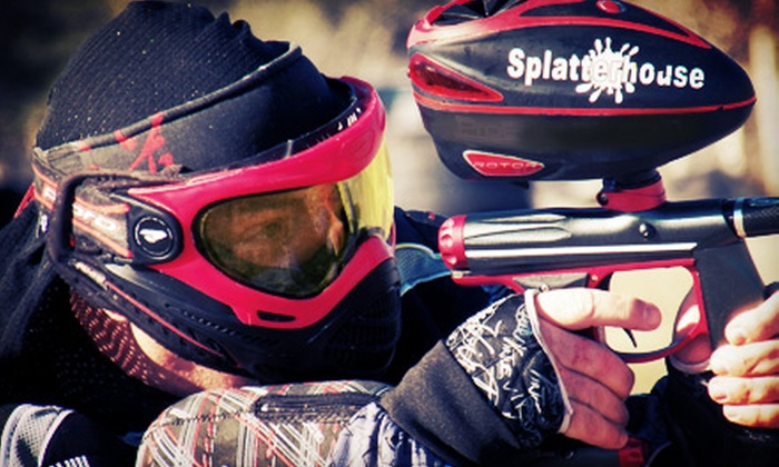 Splatterhouse Paintball - Brookshire: All-Day Paintball Session for Two, Four, or Six with Equipment Rental at Splatterhouse Paintball (Up to 64% Off)